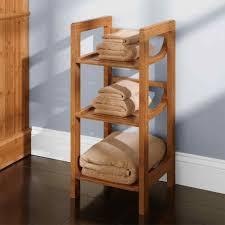 Brown Ladder Shelf Bamboo Ladder Shelf Amiphi Info