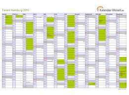 Kalender 2018 Hamburg Schulferien Ferien Hamburg 2013 Ferienkalender Zum Ausdrucken
