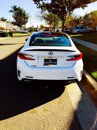 lexus ct200h black emblem black mirrors and black spoiler on ultra white rc350 f sport