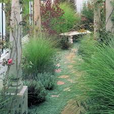 gardens landscaped garden design using grass deck sculpture