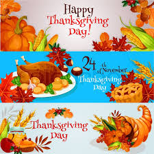happy thanksgiving day banners posters greeting invitation cards