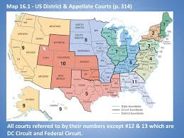 map of us federal states the federal court system ppt