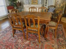 antique french oak dining table and chairs spanish parquetry