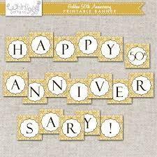 25 Wedding Anniversary Invitation Cards 50th Anniversary Banner Golden Anniversary Party Or Wedding