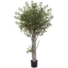 nearly natural 6 ft olive tree 5439 the home depot