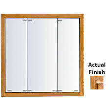 Recessed Medicine Cabinet Wood Door Shop Kraftmaid Traditional 29 In X 28 In Square Surface Recessed