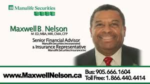 Financial Representative Manulife Securities Maxwell Nelson 30 Seconds Commercial Youtube