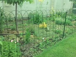 pvc coated garden border fence anti corrosion