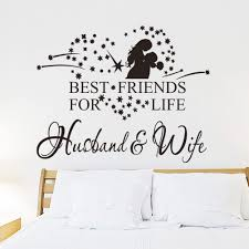 best friends for life husband wife wall art decal quote words does not apply