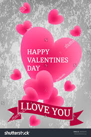 happy valentines day image flying colorful stock vector 559555243