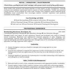 sle sales associate resume class resume objective for retail free objectives template