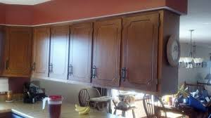 how to paint oak veneer kitchen cabinets painted 1980 s veneer kitchen cabs before after photos