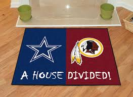 Dallas Cowboys Area Rug Nfl House Divided Rivalry Rug Dallas Cowboys Washington Redskins