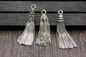 silver tassel long necklace images 1pc sterling silver tassel charm sterling silver chain tassel jpg