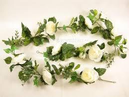 artificial flowers ranunculus cab rose ivy wedding garland
