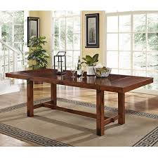 rustic dark oak wood dining table free shipping today
