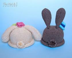 10 adorable bunny hat crochet patterns for easter