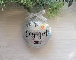 engagement ornament just engaged gift wedding ornament