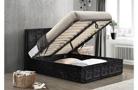 Ottoman Bed Black Hshire Crushed Velvet Ottoman Bed Frame Modern Beds Fads
