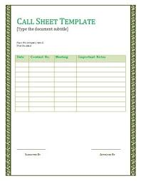 call sheets template download a free call sheet template to get