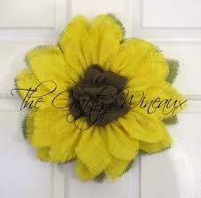 burlap sunflower wreath small yellow burlap sunflower wreath the crafty wineaux