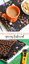 halloween kitchen rugs halloween mug rug sewing tutorial