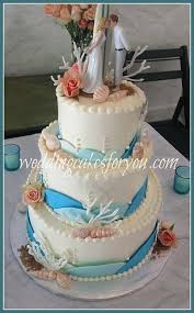 sea shell wedding cakes are a perfect fit for a beach themed cake