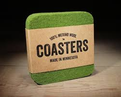 square felt coasters 100 merino wool absorbent soft