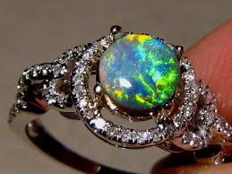 black opal engagement rings black opal engagement ring psychedelic opal