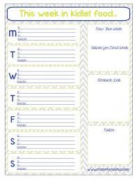keep track of food intake in wee ones infant dinner menu