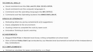 Resume Samples 2017 For Freshers by Sql Developer Resume Haadyaooverbayresort Com