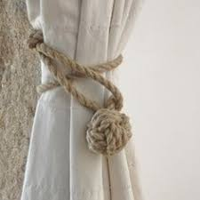 Rope Curtain Tie Back Monkey Curtain Tie Backs In Hemp Rope Drop The Living