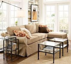 Slip Covers For Sectional Sofas Slipcover Sectional Sofa With Chaise Pb Basic Slipcovers Pottery