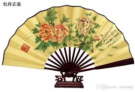 held fan large silk folding held fan wedding christmas