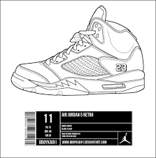 printable coloring pages jordans