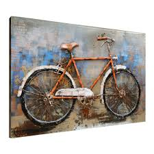 Bicycle Home Decor by Amazon Com Asmork 3d Metal Art 100 Handmade Metal Unique Wall