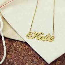 Gold Chain With Name Personalised Handmade Name Necklace By Anna Lou Of London