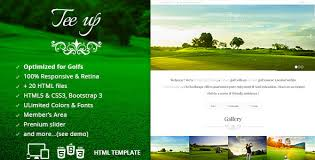 tee up golf html5 template by alkaweb themeforest