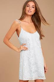 lovely light blue dress embroidered dress shift dress 75 00