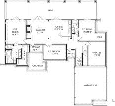 4 Bedroom House Plan by Alternate Basement Floor Plan 1st Level 3 Bedroom House Plan With