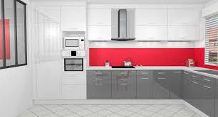 cuisine blanche grise cuisine blanc mur gris et images inspirations avec cuisine