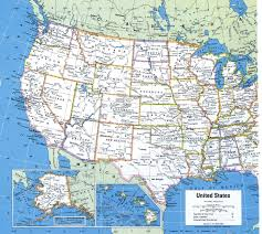 Border Map Of Usa by United States Map