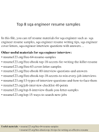 Sqa Resume Sample by Top8sqaengineerresumesamples 150517030605 Lva1 App6891 Thumbnail 4 Jpg Cb U003d1431832013