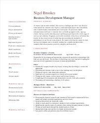 Sample Business Management Resume by 6 Business Resumes Free Sample Example Format Free