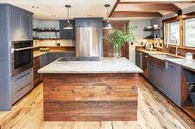 rustic blue gray kitchen cabinets gray kitchen cabinets color psychology design ideas