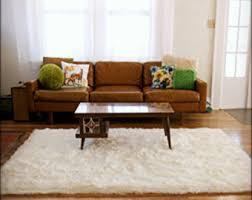 soft shaggy faux fur throw rug white shag area carpet