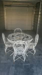 Antique Wrought Iron Outdoor Furniture by Vintage French Wrought Iron Conservatory Patio Cafe Table And