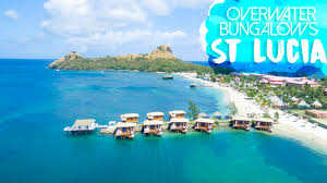 sandals st lucia overwater bungalow in the caribbean getting stamped