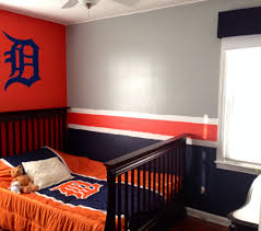 Detroit Tigers Crib Bedding Detroit Tigers Baseball Bedroom Boy S Room With Detroit