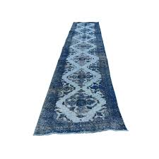 Worn Oriental Rugs 2 U002710 U0027 U0027x13 U00275 U0027 U0027 Denim Blue Overdyed Persian Qashqai Worn Oriental